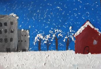 Paula Walaszczyk kl. VIc Zimowy krajobraz miejski