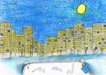 Karolina Cal kl. VIa Zimowy krajobraz miejski